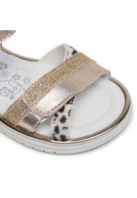 Złote sandały Primigi na co dzień, z aplikacjami, na lato, casualowe