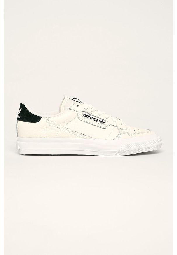Kremowe sneakersy adidas Originals na sznurówki, z cholewką