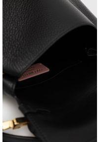 Coccinelle - Plecak skórzany Arlettis. Kolor: czarny. Materiał: skóra
