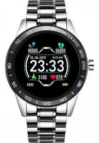 Srebrny zegarek Roneberg smartwatch