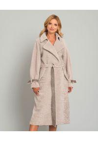 Szary płaszcz ALMAROSAFUR na jesień, klasyczny