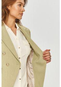 Mos Mosh - Marynarka. Okazja: na co dzień. Kolor: zielony. Materiał: tkanina, poliester. Wzór: gładki. Styl: klasyczny, casual