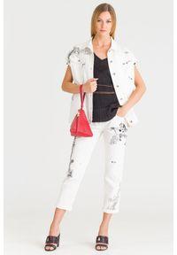 Biała kamizelka Patrizia Pepe elegancka, z aplikacjami