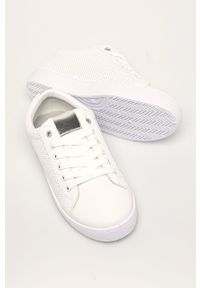 Białe buty sportowe ANSWEAR na średnim obcasie, na obcasie