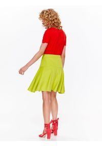 TOP SECRET - Spódnica rozkloszowana w modnym kolorze. Kolor: żółty. Materiał: dzianina. Długość: długie. Sezon: wiosna, lato. Styl: elegancki