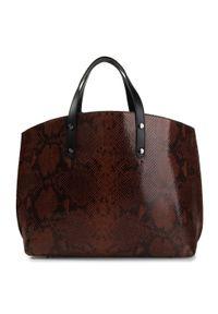 Brązowa torebka klasyczna QUAZI klasyczna
