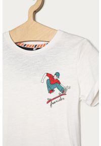 Biały t-shirt Name it z nadrukiem, na co dzień, casualowy