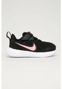 Czarne buty sportowe Nike Kids Nike Revolution, z cholewką