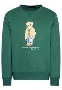 Polo Ralph Lauren Bluza Magic Fleece 710829165003 Zielony Regular Fit. Typ kołnierza: polo. Kolor: zielony