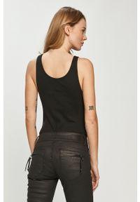Czarny top Calvin Klein Jeans z nadrukiem, casualowy