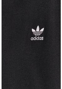 adidas Originals - T-shirt. Okazja: na co dzień. Kolor: czarny. Wzór: aplikacja. Styl: casual