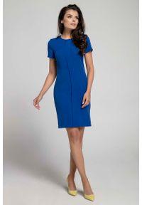 Niebieska sukienka Nommo elegancka
