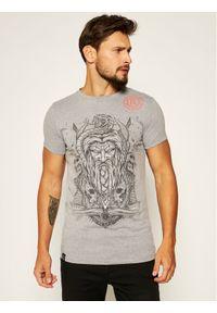 Rage Age T-Shirt Weles Monoch Szary Slim Fit. Kolor: szary