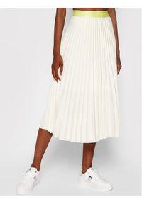 Calvin Klein Spódnica plisowana Sunray Pleat Two Tone K20K203072 Beżowy Regular Fit. Kolor: beżowy