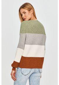 Miętowy sweter only na co dzień, z długim rękawem