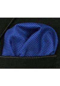 Niebieska poszetka Chattier w kropki