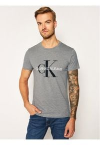 Calvin Klein Jeans T-Shirt Core Monogram Logo J30J314314 Szary Regular Fit. Kolor: szary