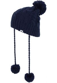 Niebieska czapka zimowa 4f na jesień