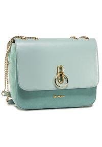 Zielona torebka klasyczna Gino Rossi klasyczna, zamszowa