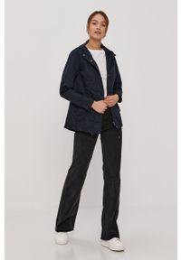 Niebieska kurtka only gładkie