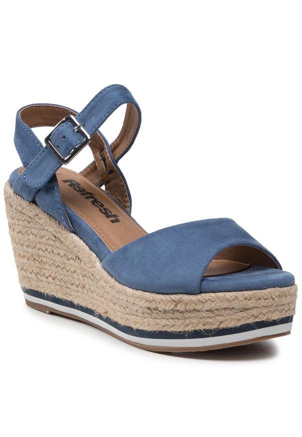 Refresh - Espadryle REFRESH - 72756 Jeans. Okazja: na co dzień. Kolor: niebieski. Materiał: materiał. Styl: casual