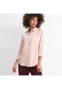 Mohito - Wiskozowa koszula Eco Aware - Różowy. Kolor: różowy. Materiał: wiskoza