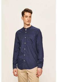 Niebieska koszula s.Oliver casualowa, ze stójką, długa, z długim rękawem