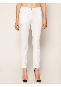 Białe spodnie materiałowe Trussardi Jeans