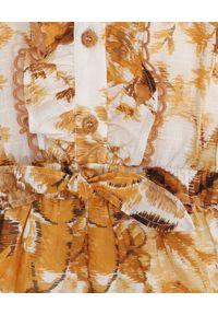 ZIMMERMANN KIDS - Kombinezon w kwiaty Aliane. Kolor: brązowy. Materiał: bawełna. Wzór: kwiaty