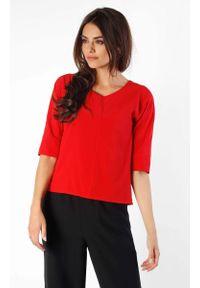 Czerwona bluzka Nommo z dekoltem w serek