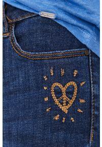 Niebieskie jeansy Desigual gładkie