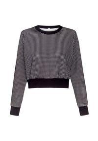 Czarna bluza No Ka Oi krótka, z aplikacjami