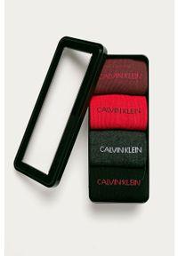 Szare skarpetki Calvin Klein Jeans z nadrukiem