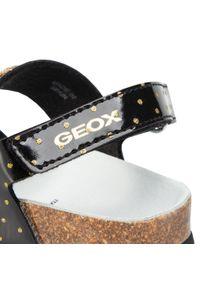 Czarne sandały Geox z aplikacjami, na lato