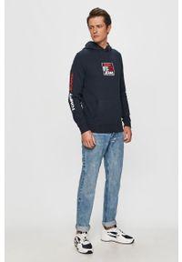Niebieska bluza nierozpinana Tommy Jeans z nadrukiem, casualowa