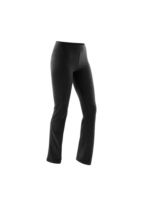 NYAMBA - Legginsy fitness damskie Nyamba Regular FIT+. Kolor: czarny. Materiał: elastan, bawełna, materiał. Sport: fitness