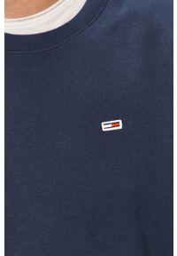 Niebieska bluza nierozpinana Tommy Jeans casualowa, na co dzień, melanż