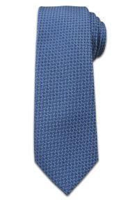 Oryginalny Krawat Męski w Drobny Delikatny Wzór -6,5 cm - Chattier, Niebieski. Kolor: niebieski. Materiał: tkanina. Styl: wizytowy, elegancki