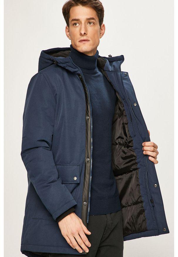Niebieska kurtka PRODUKT by Jack & Jones casualowa, z kapturem, na co dzień