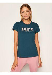 Zielony t-shirt Asics