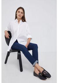 Mos Mosh - Koszula. Okazja: na co dzień. Kolor: biały. Materiał: tkanina. Długość rękawa: długi rękaw. Długość: długie. Wzór: gładki. Styl: casual