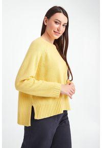 Sweter Weekend Max Mara w ażurowe wzory, do pracy