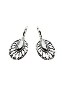 Polcarat Design - Kolczyki srebrne K 1690 Krzem. Materiał: srebrne. Kolor: srebrny. Wzór: aplikacja