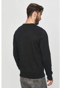 Czarna bluza nierozpinana Calvin Klein Jeans z nadrukiem, bez kaptura, na co dzień, casualowa