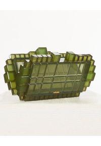 CULT GAIA - Zielona torebka Eden. Kolor: zielony. Wzór: nadruk. Rodzaj torebki: na ramię