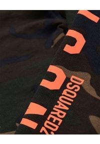 DSQUARED2 KIDS - Bawełniane spodnie moro 0-3 lata. Okazja: na co dzień. Kolor: zielony. Materiał: bawełna. Długość: długie. Wzór: moro. Sezon: lato. Styl: casual