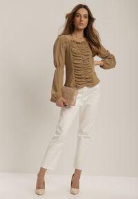 Renee - Brązowa Bluzka Alcilyse. Kolor: brązowy