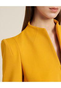 Luisa Spagnoli - LUISA SPAGNOLI - Marynarka Sistemi. Kolor: żółty. Materiał: wiskoza. Długość rękawa: długi rękaw. Długość: długie