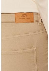 Kremowe jeansy Jacqueline de Yong z podwyższonym stanem