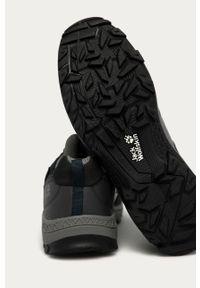 Niebieskie buty trekkingowe Jack Wolfskin na sznurówki, z cholewką